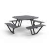 Fiber I met zwart staal en grijze zitvlakken