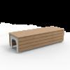 Witte tuinbank BLOCKS Stretch van Inter Design