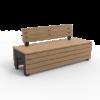 Zwarte Tuinbank BLOCKS Stretch Comfort van Inter Design