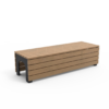 Zwarte tuinbank BLOCK Stretch van Inter Design