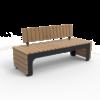 Zwarte tuinbank BLOCKS Cross Comfort van Inter Design